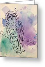 Cecil The Sad Owl Greeting Card