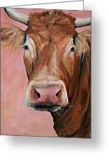 Cecilia The Cow Greeting Card