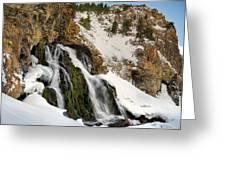 Cedar Creek Falls Winter Greeting Card