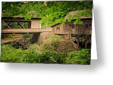 Cedar Creek Mill And Covered Bridge Greeting Card
