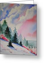 Cedar Fork Snow Greeting Card by Karen Stark