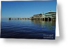 Cedar Key Pier Greeting Card