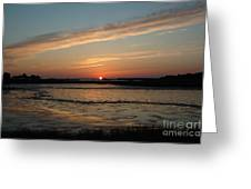 Cedar Key Sunset 1 Greeting Card