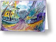 Cedar Valley Lane Huntington Ny Greeting Card