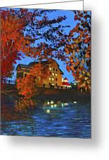 Cedarburg Mill At Night Greeting Card