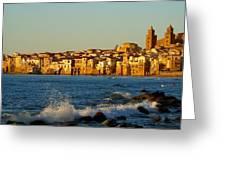 Cefalu - Sicily Greeting Card by Sorin Ghencea