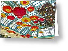 Ceiling Of Bellagio Conservatory In Las Vegas-nevada Greeting Card