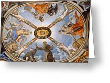 Ceiling Of The Chapel Of Eleonora Of Toledo Greeting Card