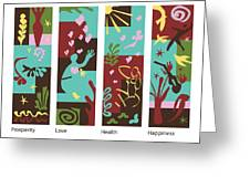 Celebrate Life 4 Panels Greeting Card