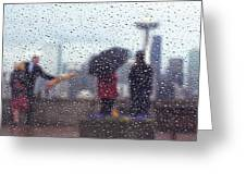 Celebration In Rain A036 Greeting Card