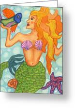 Celeste The Mermaid Greeting Card