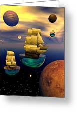 Celestial Armada Greeting Card