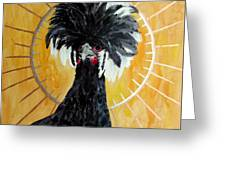 Celestial Chicken - Lady Hawk Greeting Card
