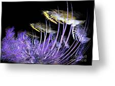 Celestial Flowers Greeting Card