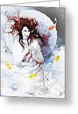 Celestial Koi Geisha Greeting Card