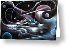 Celestial Mountain Greeting Card