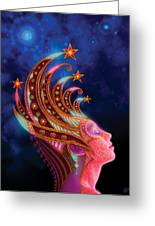 Celestial Queen Greeting Card by Philip Straub