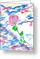 Celestial Rose Greeting Card