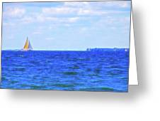 Celestial Skies Sailing The Blue Greeting Card