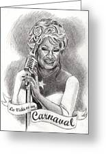 Celia Cruz Greeting Card