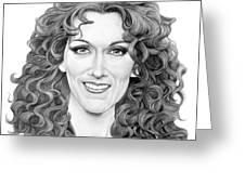 Celine Dion Greeting Card