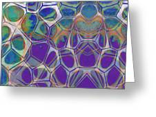 Cell Abstract 17 Greeting Card