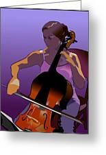 Cellist II Greeting Card