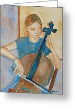 Cello Practice Iv Greeting Card
