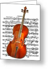 Cello With Clara Bow Greeting Card