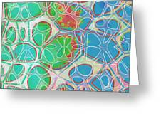 Cells 11 - Abstract Painting  Greeting Card