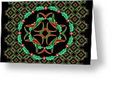 Celtic Christmas Holly Wreath Greeting Card