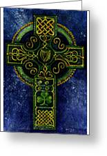 Celtic Cross - Harp Greeting Card