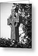 Celtic Cross At Fuerty Cemetery Roscommon Ireland Greeting Card