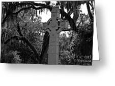 Celtic Cross Greeting Card by Melody Jones