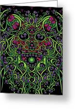 Celtic Day Of The Dead Skull Greeting Card