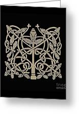 Celtic Leaves Knots One Greeting Card