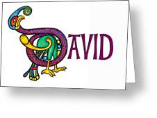 Decorative Celtic Name David Greeting Card