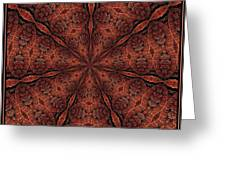Celtic Ribbons Tile K7-2 Bronze Greeting Card