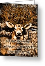Celtic Stag Greeting Card