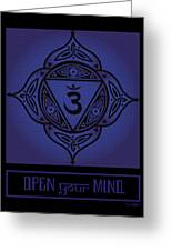 Celtic Tribal Third Eye Chakra Greeting Card