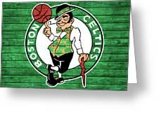 Celtics Barn Door Greeting Card