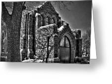 Cemetary Chaple Greeting Card
