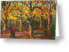 Cemetary In Autumn Greeting Card