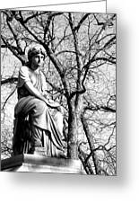Cemetary Statue B-w Greeting Card