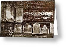 Cemetary Wall Greeting Card