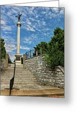 Cemetery Entrance And Lovejoy Monument  Greeting Card
