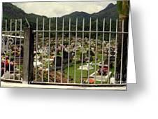 Cemetery In Seychelles Islands Greeting Card