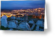 Cemetery Overlooking Fes, Morocco Greeting Card