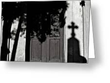 Cemetery Shadow Greeting Card
