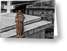 Cemetery Statue Greeting Card